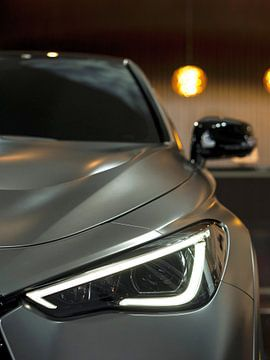 Zilveren auto