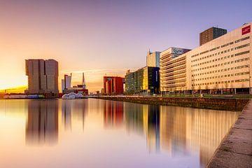 Zonsondergang Rotterdam van Ralf Linckens