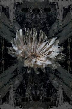 Digitales Stillleben einer Blume und Kunst von Digitale Schilderijen