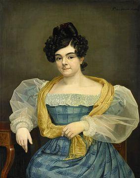 Portrait of Adriana Johanna van Wijck, Petrus van Schendel