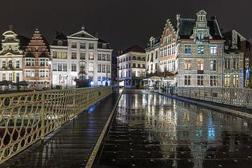 Le pont sur la rivière Lys à Gand sur MS Fotografie | Marc van der Stelt