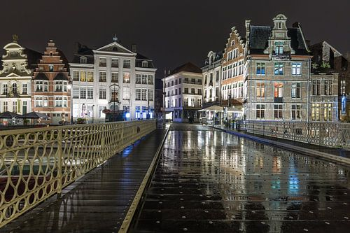 De brug over Leie in Gent van MS Fotografie