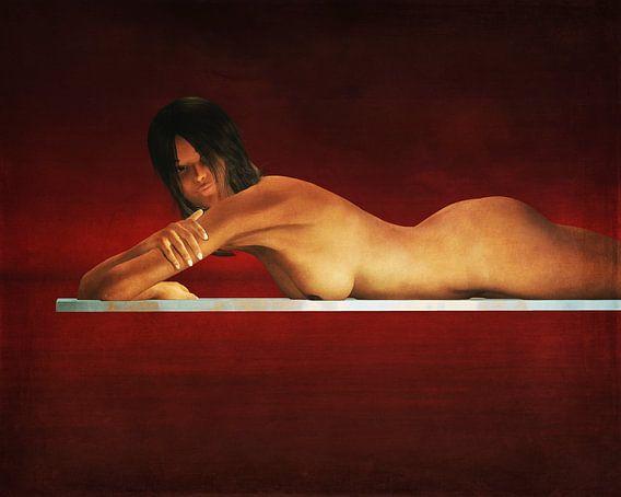 Erotisch naakt - Naakte vrouw in rust.