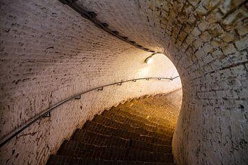 Bunkertrap Fort Pannerden van Evert Jan Luchies