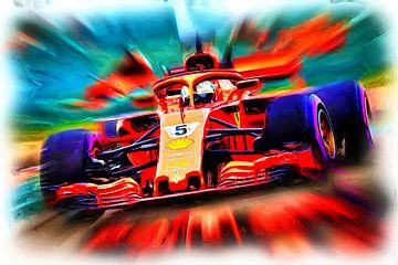 Vettel's Monoposto nicknamed Loria van Jean-Louis Glineur alias DeVerviers