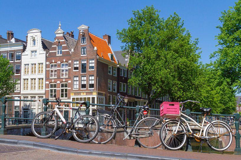 Les maisons d'Amsterdam sur le canal sur Jan van Dasler