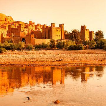 Kasbah Ait-Benhaddou bei Sonnenaufgang, UNESCO Weltkulturerbe, Marokko, von Markus Lange