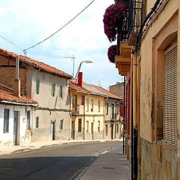 kleurrijk straatje in Spanje van Artstudio1622