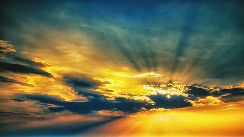 Goldener Himmel von Holger Debek