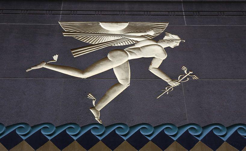 Götterbote Hermes in New York City von Christine aka stine1