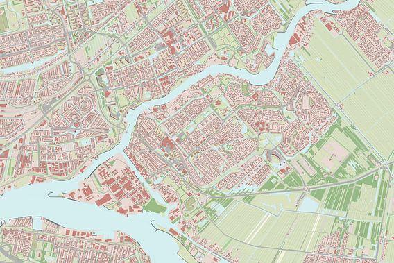 Kaart vanKrimpen aan den IJssel van Rebel Ontwerp