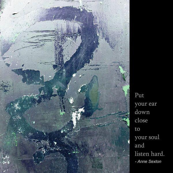 Anne Sexton: Listen To Your Soul! van MoArt (Maurice Heuts)