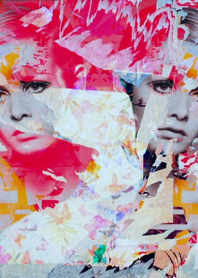 Miss Twiggy  - Collage - Butterfly