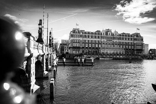 Amstel Hotel zwart-wit van