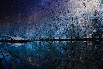 Winter aan het meer van mario proeter