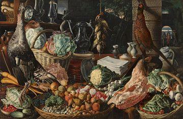 Scène de cuisine avec le Christ à Emmaüs, Joachim Beuckelaer sur