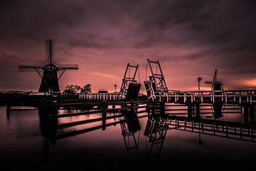 Sonnenaufgang in Kinderdijk. von Dirk Keij-Bron