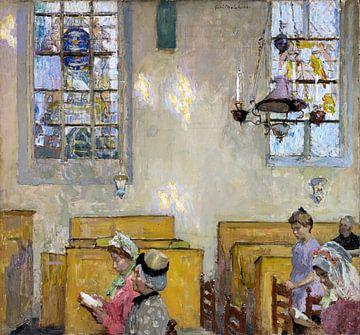Kerk, Vesper, Gari Melchers, 1916 van Atelier Liesjes