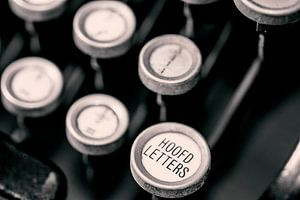 Typemachine toetsenbord van