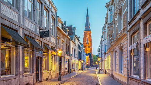 Rechtstraat - Maastricht - Wyck - Mestreech in het blauwe uur