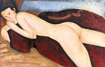 Liggend naakt vanaf de achterkant, Amedeo Modigliani, 1917 van Atelier Liesjes