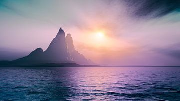 Eiland bij zonsondergang van Markus Gann