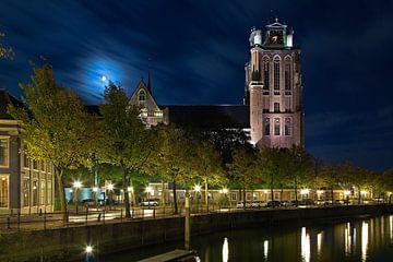 Grote Kerk Dordrecht au clair de lune sur Anton de Zeeuw