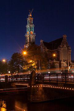 Westerkerk bij nacht von Wim Slootweg