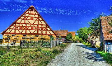 Dorfstrasse, Franken, Duitsland van Karl-Heinz Lüpke