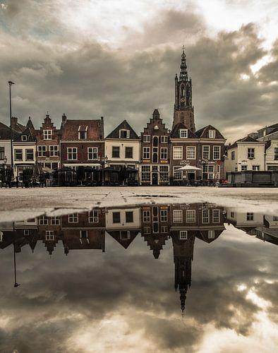 Amersfoort, de Hof (vanuit een regenplas gezien) van Marlous en Stefan P.