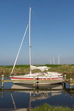 Segelboot Battenoord auf Goeree-Overflakkee von Charlene van Koesveld