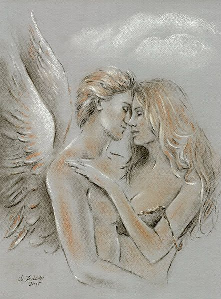Highway to Heaven - engel het schilderen van Marita Zacharias