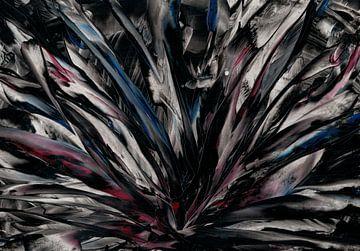Donker rood wit en blauw van Bethina de Reus