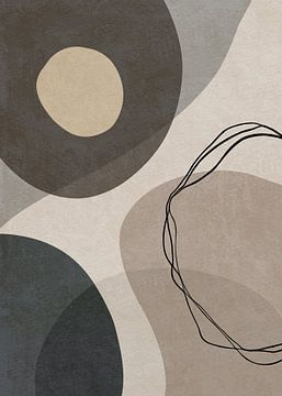 Abstracte Geometrische Organische Vormen En Lijnen van Diana van Tankeren