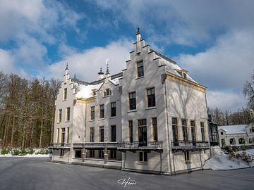 kasteel staverden in de winter van Henri van Rheenen