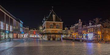 de Waag at Night  in Leeuwarden  van