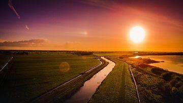 Nederlands landschap vanuit de lucht van Pureframed Photos