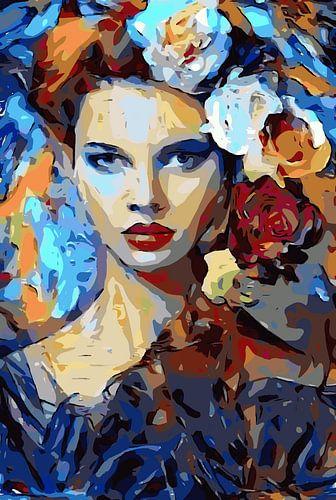 Bloemenhaar van Josephine Duson