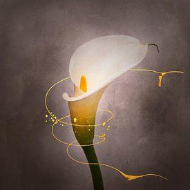 Grazile Blume - Calla Nr. 4 | Vintage-Stil gold von Melanie Viola