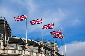 Union Jack vlaggen Londen van Jolien Kramer