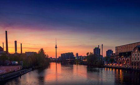Berlin sunset panorama von Johan Strijckers