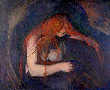 Vampir, Edvard Munch