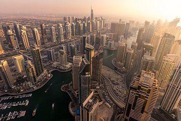 Dubai Marina Sunset van Stefan Schäfer