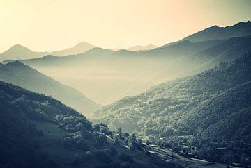 Mist in de bergen van