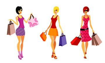 Einkaufen für trendige Mädchen