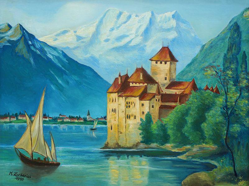 Schloss Chillon am Genfersee von Marita Zacharias