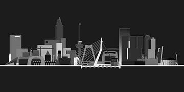 Rotterdamer Skyline, Nachtversion von Frans Blok