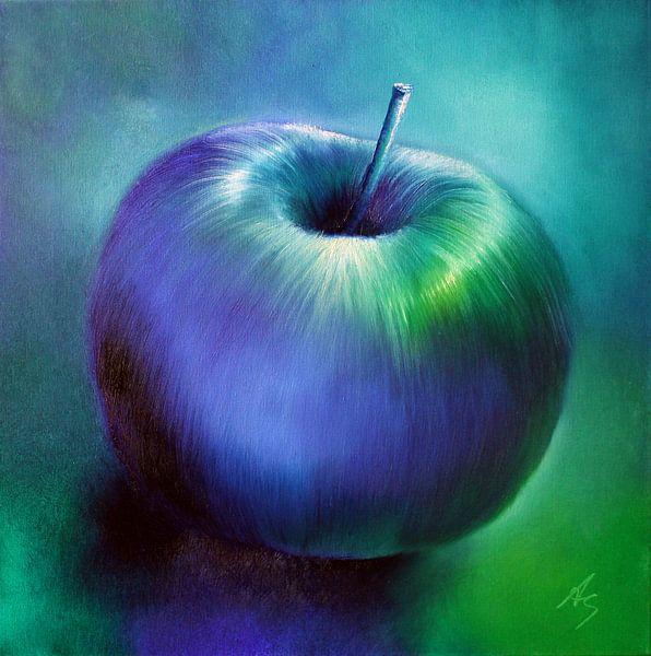 Blauer Apfel von Annette Schmucker
