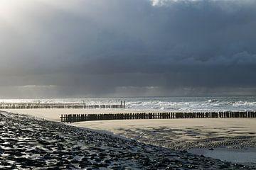 Tempête à Westkapelle sur Zeeland op Foto