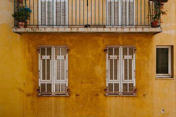 gele muur van Huib Vintges